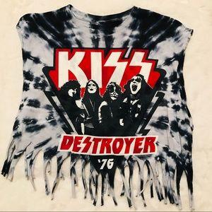 Tops - KISS Destroyer Vintage Tie-Dye Concert Tee